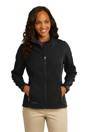 Eddie Bauer Ladies Shaded Crosshatch Soft Shell Jacket. EB533