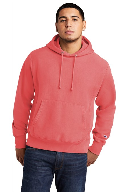Champion  Reverse Weave  Garment-Dyed Hooded Sweatshirt. GDS101