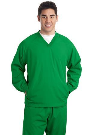 Sport-Tek - V-Neck Raglan Wind Shirt. JST72