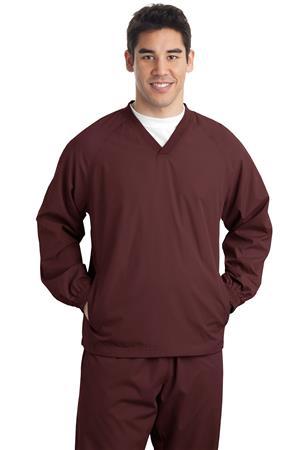 Sport-Tek Tall V- Neck Raglan Wind Shirt. TJST72