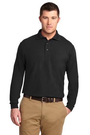 Port Authority Silk Touch Long Sleeve Polo.  K500LS