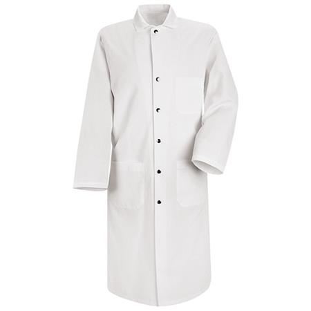 Snap-Front Spun Polyester Butcher Coat - KS58