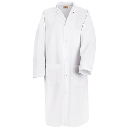 Gripper-Front Spun Polyester Butcher Coat -KS64