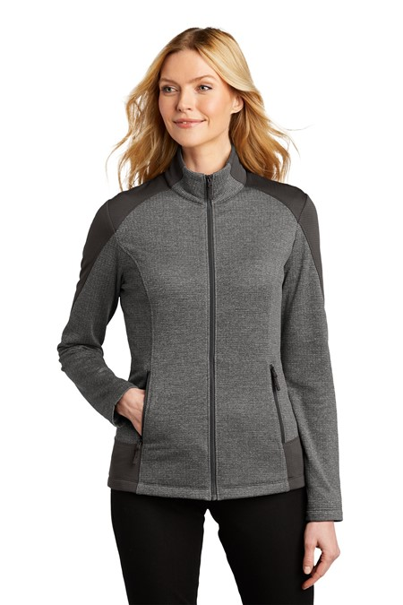 Port Authority  Ladies Grid Fleece Jacket. L239