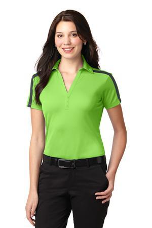 Port Authority Ladies Silk Touch PerformanceColorblock Stripe Polo. L547