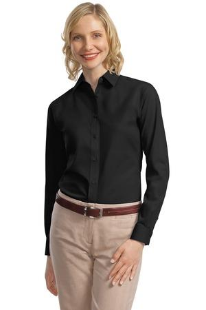 Port Authority - Ladies Long Sleeve Value Poplin Shirt. L632