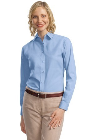 Port Authority - Ladies Long Sleeve Value Poplin Shirt. L632