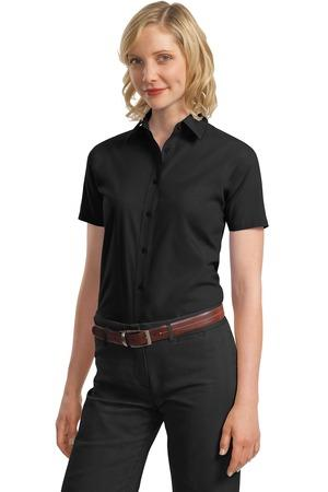 Port Authority - Ladies Short Sleeve Value Poplin Shirt. L633