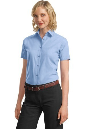 Port Authority - Ladies Short Sleeve Value Poplin Shirt. L633