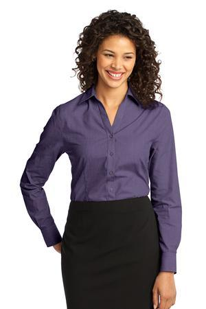 Port Authority Ladies Crosshatch Easy Care Shirt. L640