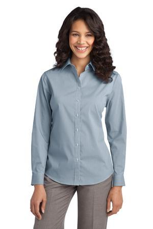 Port Authority - Ladies Fine Stripe StretchPoplin Shirt. L647