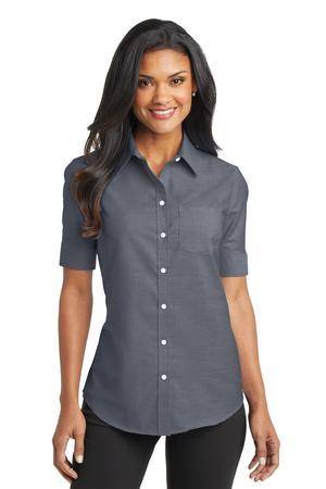 Port Authority Ladies Short Sleeve SuperProOxford Shirt. L659