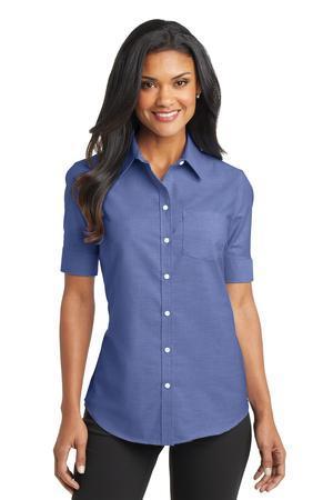 Port Authority Ladies Short Sleeve SuperPro Oxford Shirt. L659