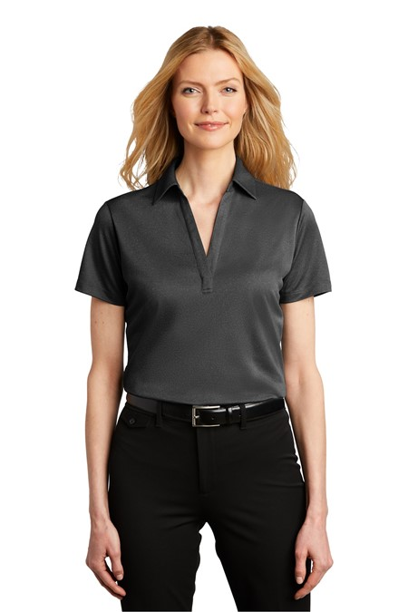 Port Authority  Ladies Heathered Silk Touch  Performance Polo. LK542