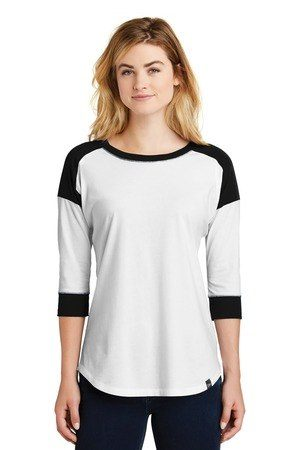 New Era  Ladies Heritage Blend 3/4-Sleeve Baseball Raglan Tee. LNEA104