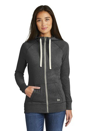 New Era  Ladies Sueded Cotton Full-Zip Hoodie. LNEA122