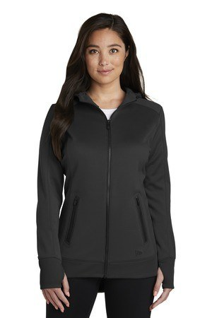 New Era  Ladies Venue Fleece Full-Zip Hoodie. LNEA522