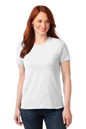 Port and Company Ladies 50-50 Cotton-Poly T-Shirt. LPC55