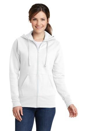 Port and Company Ladies Classic Full-Zip Hooded Sweatshirt. LPC78ZH