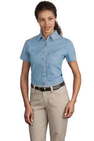 Port and Company - Ladies Short Sleeve Value Denim Shirt. LSP11