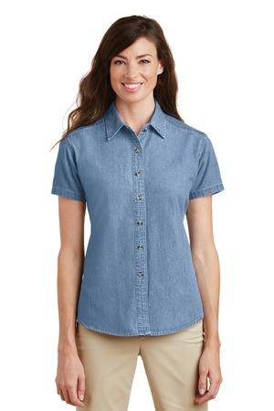 Port & Company - Ladies Short Sleeve Value Denim Shirt.  LSP11