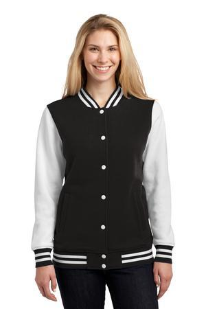 Sport-Tek Ladies Fleece Letterman Jacket. LST270