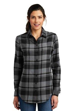 Port Authority  Ladies Plaid Flannel Tunic . LW668