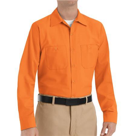 Red Kap® Men's Long-Sleeve Work Shirt SP14OR