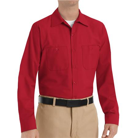 Red Kap® Men's Long-Sleeve Work Shirt  SP14RD