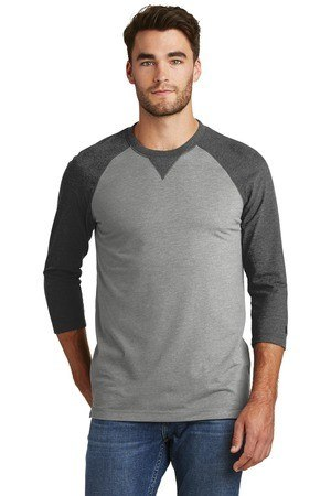 New Era  Sueded Cotton 3/4-Sleeve Baseball Raglan Tee. NEA121