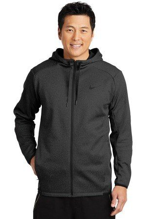 Nike Therma-FIT Textured Fleece Full-Zip Hoodie. NKAH6268