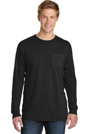 Port and Company Essential Pigment-Dyed Long Sleeve Pocket Tee. PC099LSP