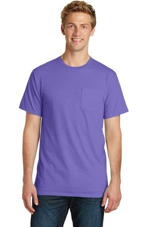 Port and Company Essential Pigment-Dyed PocketTee. PC099P