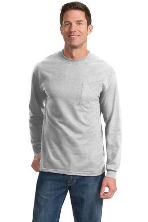 Port and Company - Long Sleeve Essential T-Shirt with Pocket. PC61LSP