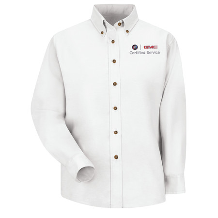 GM Official Apparel - Womens Wh Long Sleeve Poplin Buick GMC - 1919WH