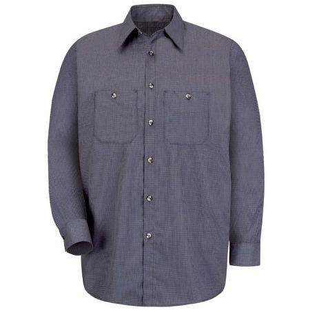 Red Kap Men's Industrial Microcheck Work Shirt - SP10