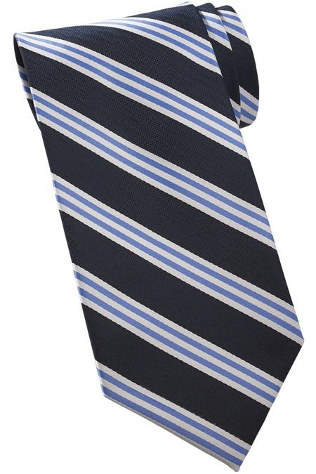 Neckwear Quilted Stripe Tie - 100% Silk QS00