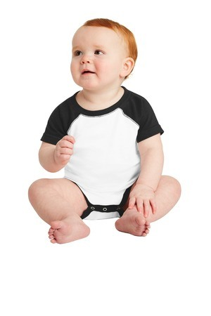 Rabbit Skins  Infant Baseball Fine Jersey Bodysuit. RS4430