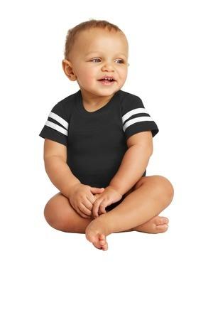 Rabbit Skins  Infant Football Fine Jersey Bodysuit. RS4437