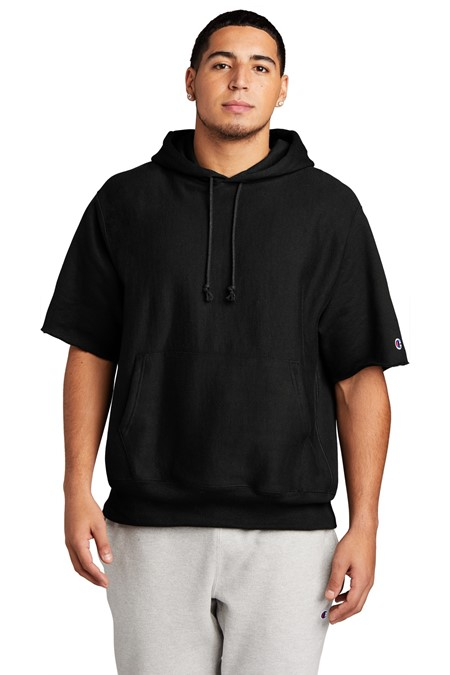 Champion   Reverse Weave   Short Sleeve Hooded Sweatshirt S101SS