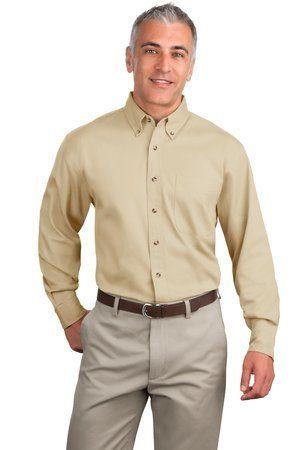 Port Authority Tall Long Sleeve Twill Shirt.  TLS600T