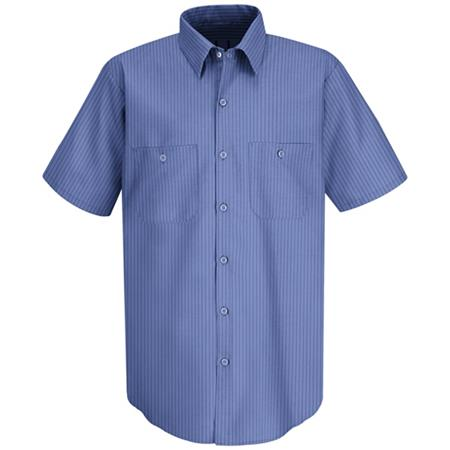 Mens Industrial Stripe Work Shirt - SB22