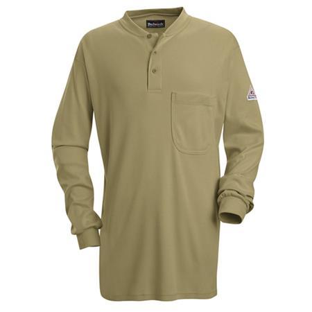 Long Sleeve Tagless Henley Shirt - EXCEL FR- SEL2