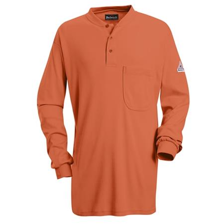 Long Sleeve Tagless Henley Shirt - EXCEL FR- SEL2