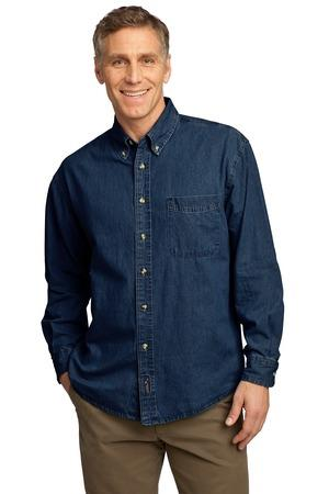 Port and Company - Long Sleeve Value Denim Shirt. SP10