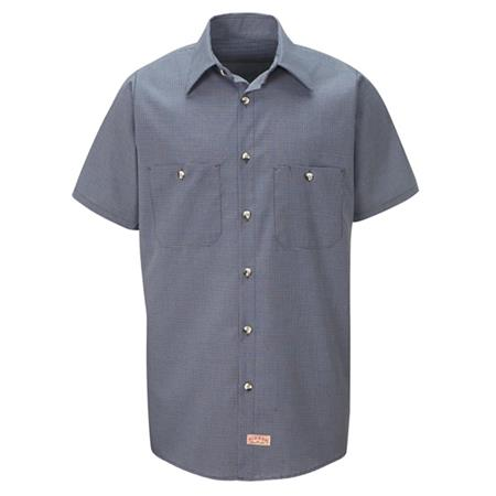 Red Kap Men's Industrial Microcheck Work Shirt - SP20
