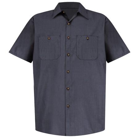 Men's Geometric Micro-Check Work Shirt SP24GB