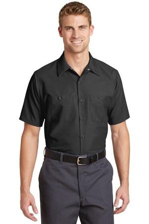 Red Kap Long Size  Short Sleeve Industrial Work Shirt. SP24LONG
