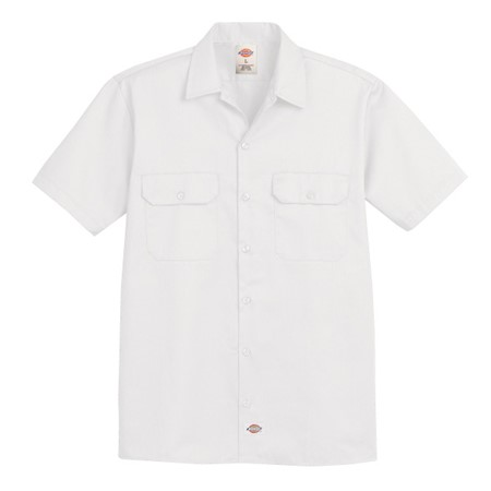 M DICKIES TWILL SS SHIRT ORGNL WH 1574WH