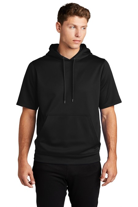 Sport-Tek Sport-Wick Fleece Short Sleeve Hooded Pullover ST251